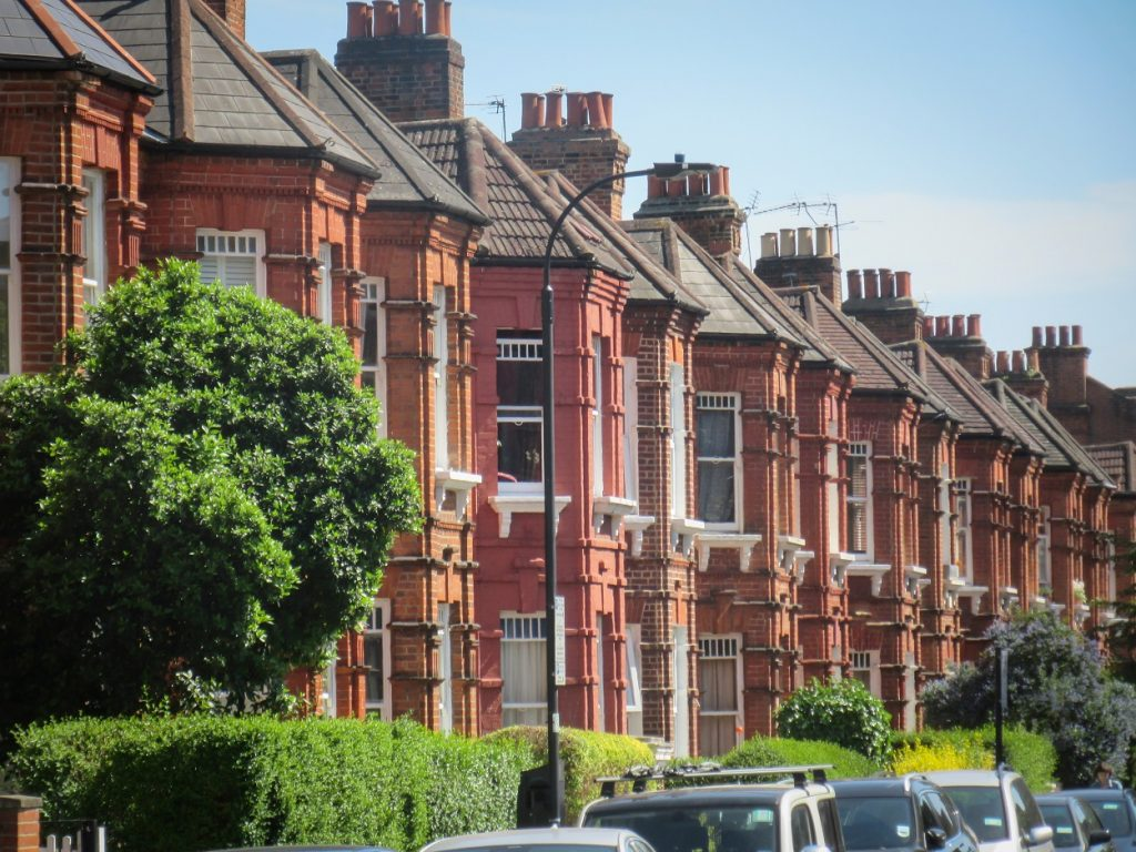 Residential Area of Shepherds Bush in London, UK